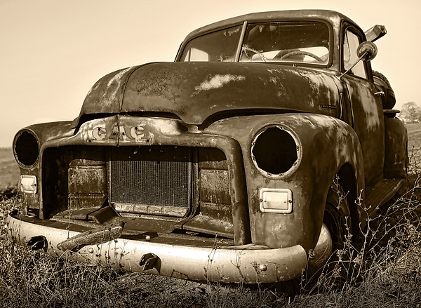 Vintage Photograph - Rusty But Trusty Old Gmc Pickup by Gordon Dean II