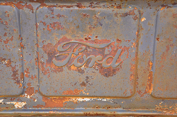 Vehicles Photograph - Rusty Ford by Jan Amiss Photography