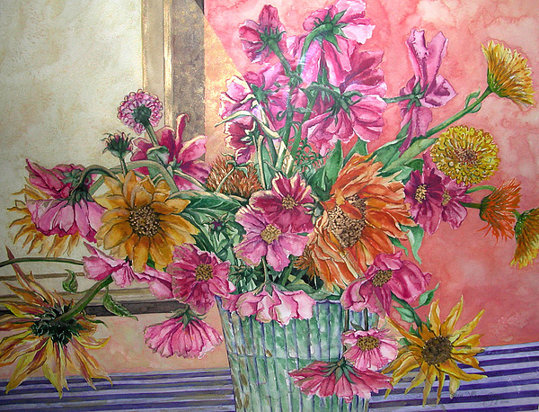 Watercolor Painting - Ruths Bouquet by Caron Sloan Zuger