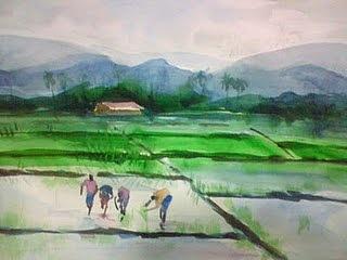 Landscape Painting - S9 by Sajeev KS