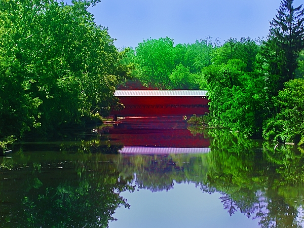 Covered Bridge Photograph - Sachs Covered Bridge - Gettysburg Pa by Bill Cannon