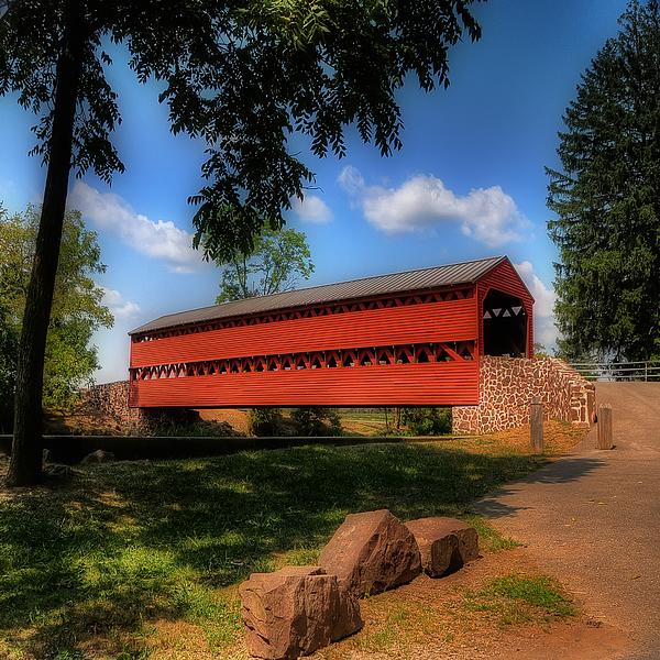 Bridge Photograph - Sachs Covered Bridge by Lois Bryan