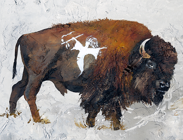 Indigenous Wildlife Painting - Sacred Gift by J W Baker