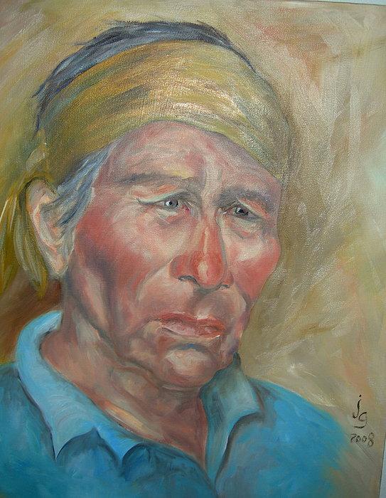 Sad Eyes Painting by Judie Giglio