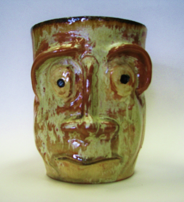 Sad Eyes Mug. Ceramic Art by Steven Keel