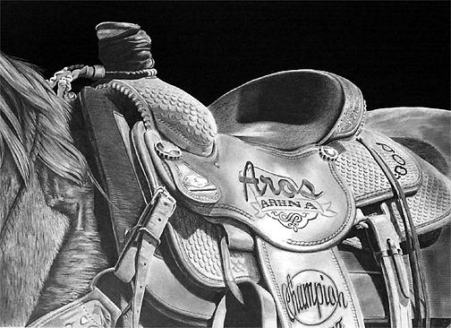 Saddle Drawing - Saddle Detail by John Bowman