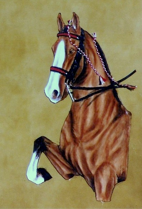 Horses Painting - Saddlebred by Lilly King