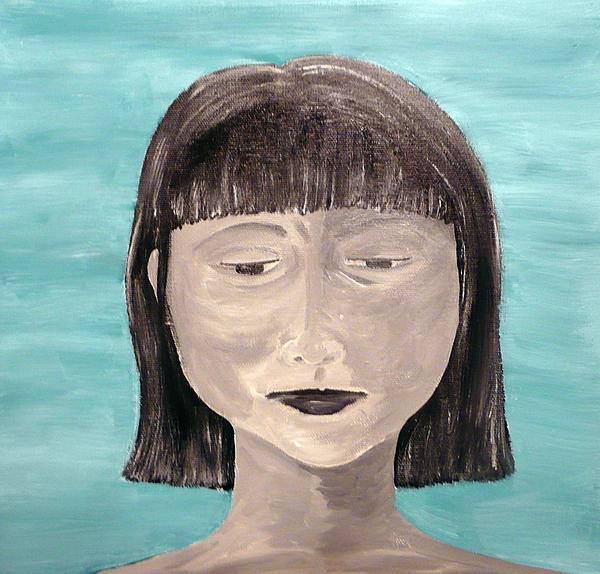 Portrait Painting - Sadness by Jennifer Hernandez
