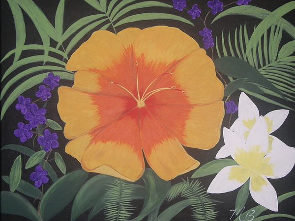 Flower Painting - Safari Orange by Melanie Blankenship