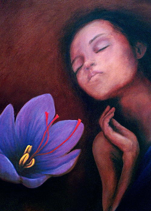 Flower Painting - Saffron by Patricia  Dees