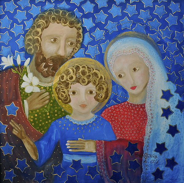 Holy Family. Christmas Card Painting - Sagrada Familia by Maria Matheus Maria Santeira