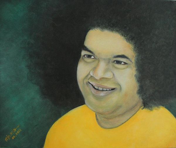 People Painting - Sai Baba In Memoriam by Desiree Micaela