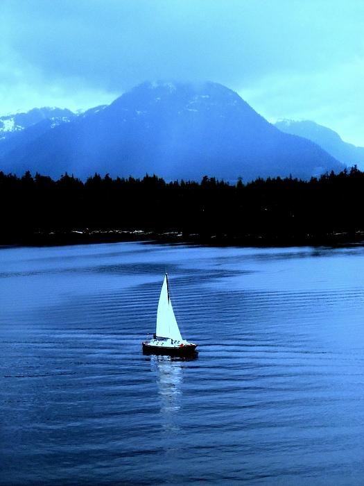 Sailboat Photograph - Sailboat 1 by Randall Weidner