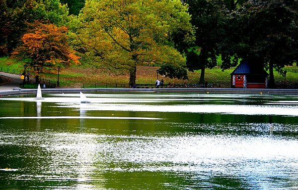 Central Park Photograph - Sailboat Pond At Central Park by Christopher Kirby