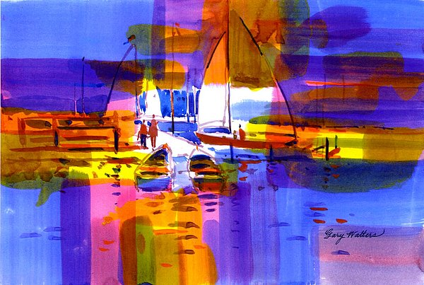 Sailin Blue Painting by Gary Walters