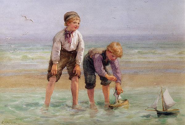 Sailing Painting - Sailing Boats  by Edith Hume