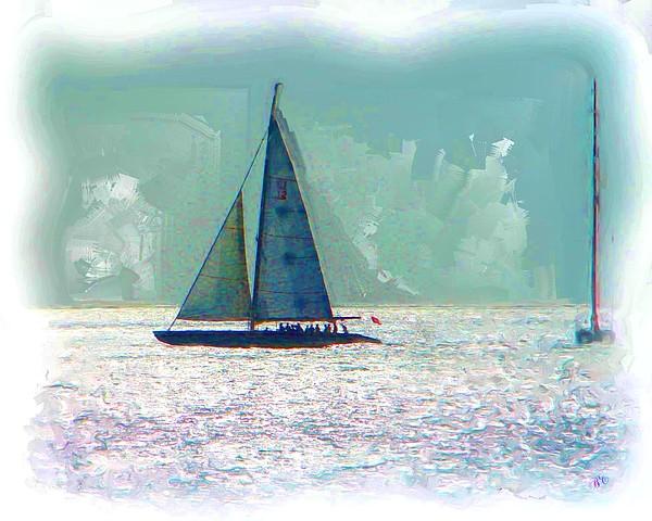 Sailing Digital Art - Sailing by Buddy Campbell