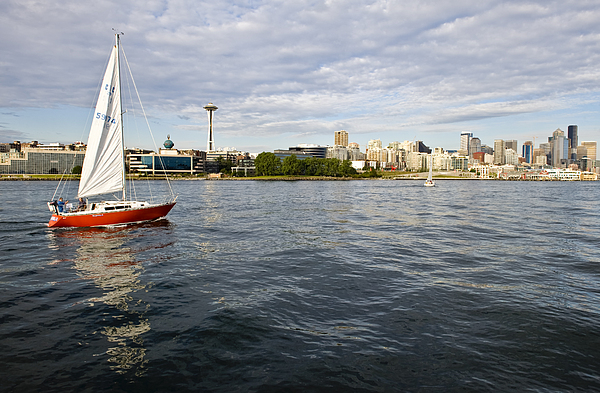Seattle Photograph - Sailing Downtown by Tom Dowd