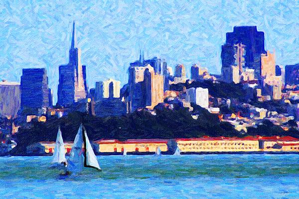 San Francisco Photograph - Sailing In The San Francisco Bay by Wingsdomain Art and Photography