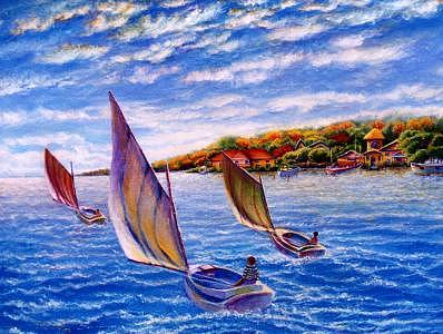 Sailing Painting by Pravit Rojawat