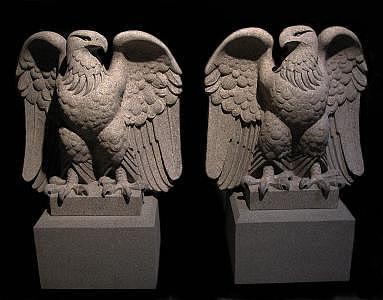Saint Gaudens Eagles Sculpture by Jerry Williams