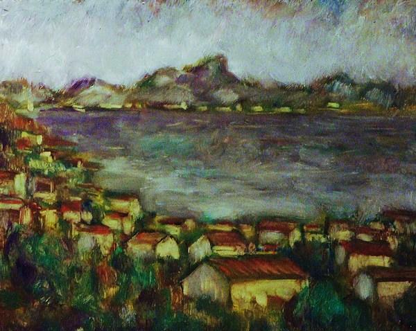 Seascape Painting - Saint Jean De Luz Bay by Jean pierre  Harixcalde