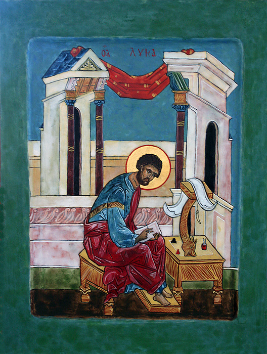 Saint Painting - Saint Luke by Phillip Schwartz