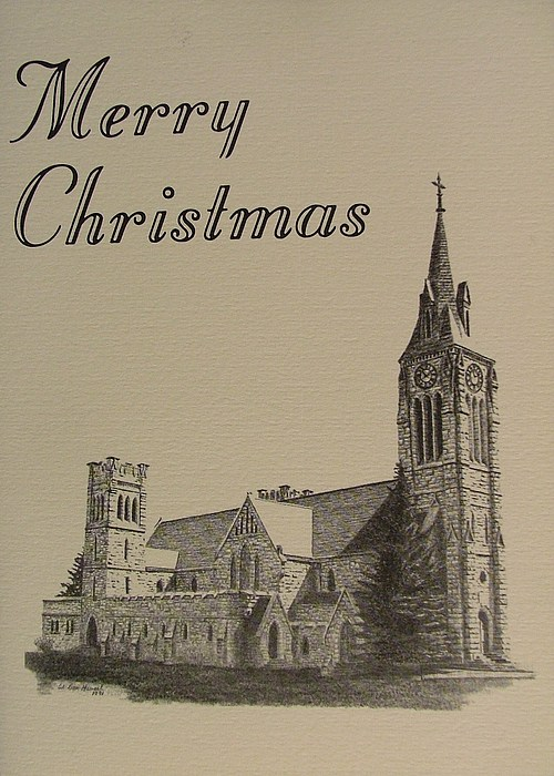 Abbeys Drawing - Saint Matthews Laramie by Dan Hausel