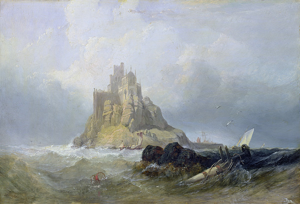 Michael Painting - Saint Michaels Mount In Cornwall  by William Clarkson Stanfield