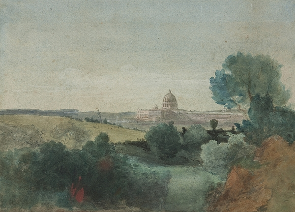 Saint Peter Seen From The Campagna Painting - Saint Peters Seen From The Campagna by George Snr Inness