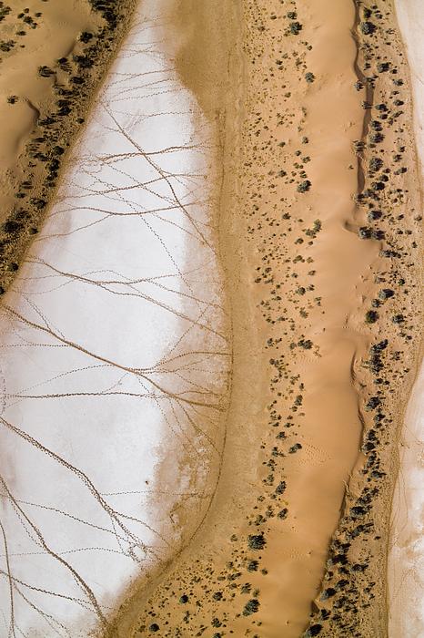 Africa Photograph - Salt Pans Deep In The Kalahari With 4x4 by Michael Fay