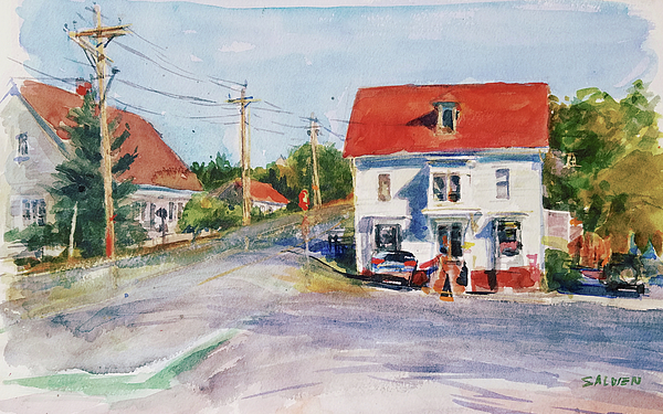 Landscape Painting - Salty Market, North Truro by Peter Salwen
