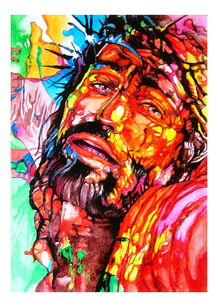 Portraits Painting - Salvation by Bobby Barredo