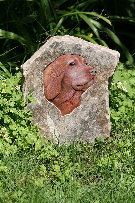 Limestone Sculpture - Sam by Ken Hall