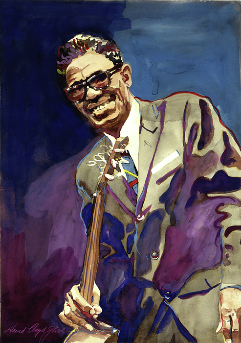Blues Painting - Sam Lightnin Hopkins by David Lloyd Glover