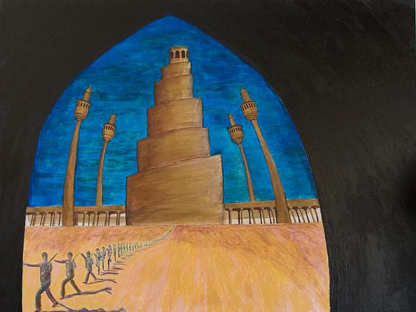 Iraq Painting - Samarra by Julia Collard