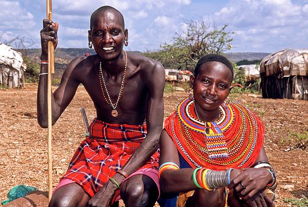 Africa Photograph - Samburu Couple by Michele Burgess