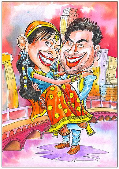 Caricature Painting - Sample For My Work by Venki Venkatesh