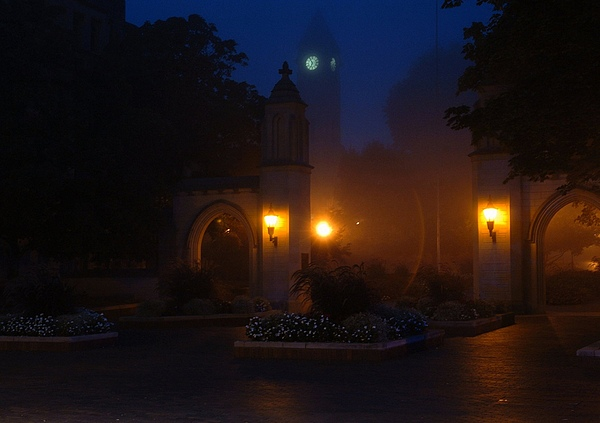 Iu Photograph - Sample Gates In The Fog by Jon Benson