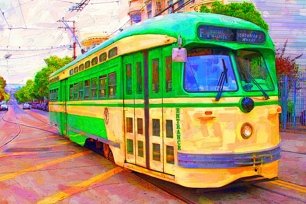 Wingsdomain Photograph - San Francisco F-line Trolley by Wingsdomain Art and Photography