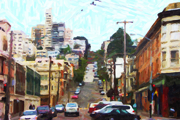 San Francisco Photograph - San Francisco Lombard Street by Wingsdomain Art and Photography