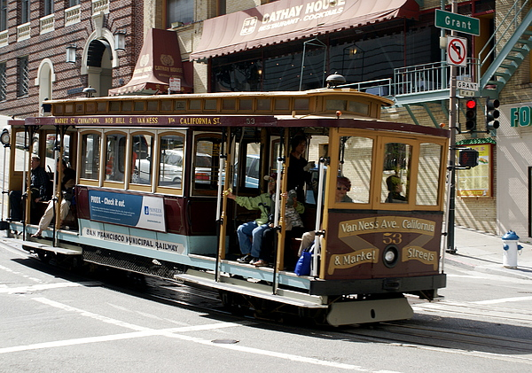 tourist attraction photograph san francisco trolley car by sonja anderson