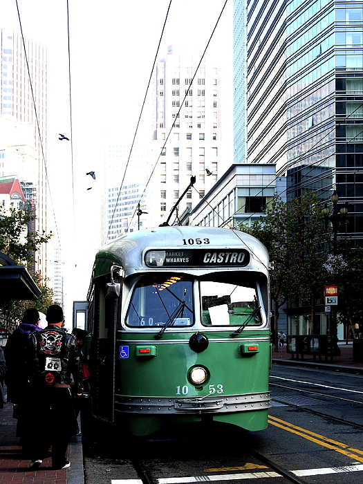 Transportation Photograph - San Francisco Trolley Castro Line . 40d3023 by Wingsdomain Art and Photography