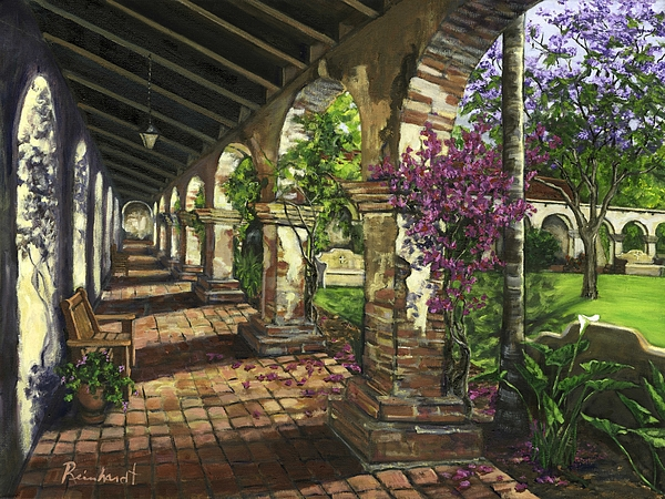 Mission Painting - San Juan Capistrano by Lisa Reinhardt
