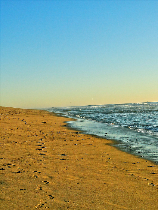 Ocean Photograph - Sand And Sea by Liz Vernand