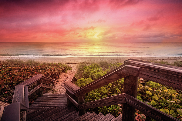 Clouds Photograph - Sand Dune Morning by Debra and Dave Vanderlaan