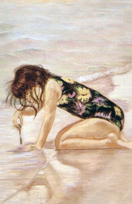 Sand Pastel - Sand Puddles by Gladiola Sotomayor