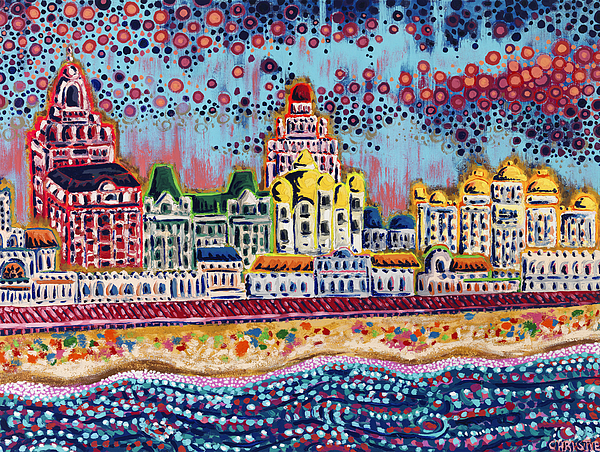 Sandcastles Painting - Sandcastles by Christie Mealo
