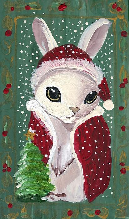 Santa Claus Painting - Santa Claus Bunny by Sylvia Pimental