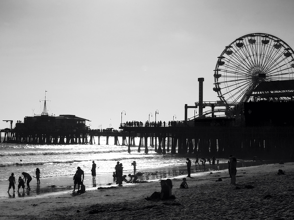 California Photograph - Santa Monica Pier by John Gusky